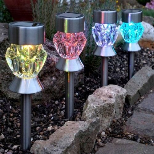 Crystal Glass Stake Light